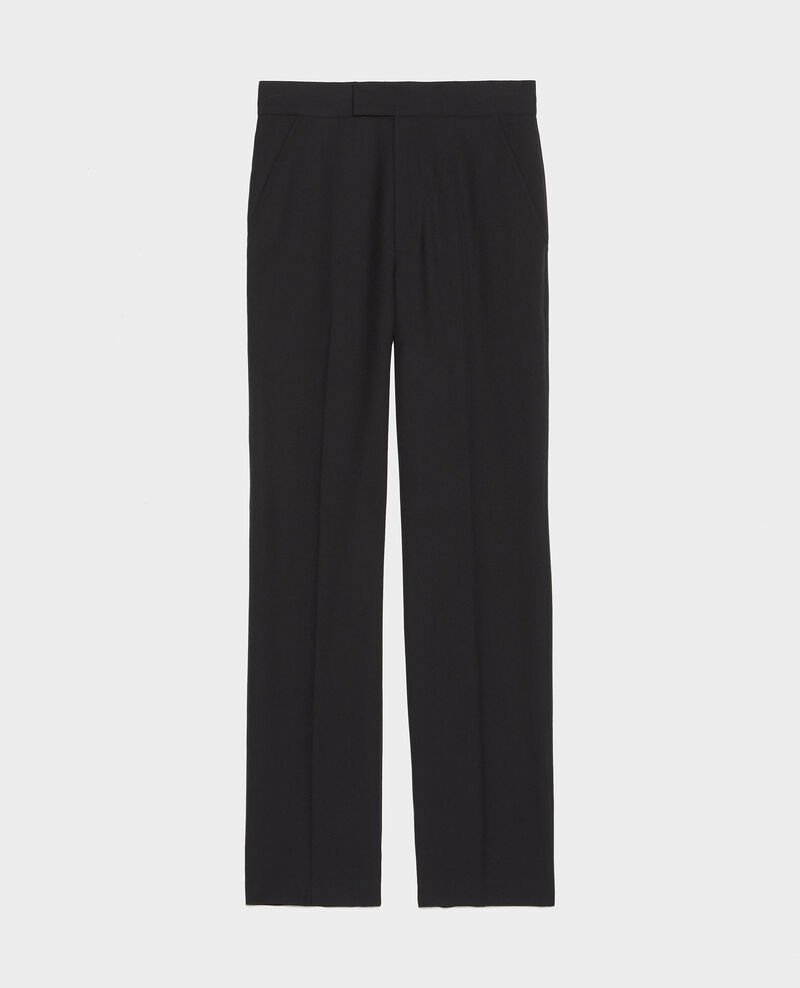 Smooth wool straight trousers Black beauty Lisabelle