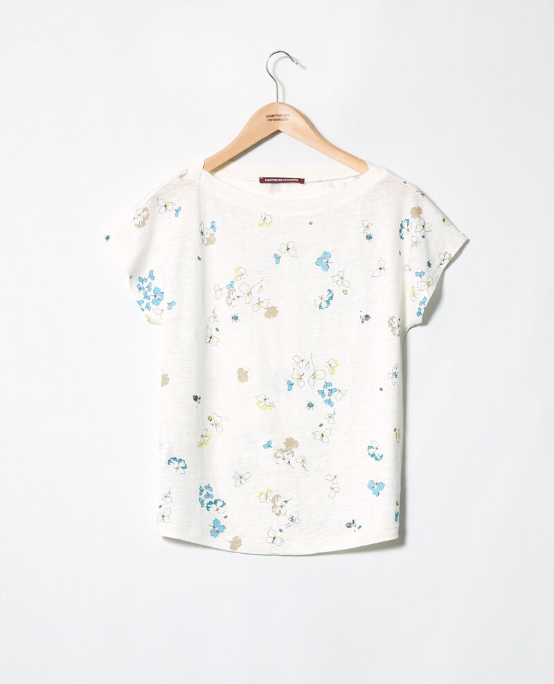 Boatneck t-shirt Dry off white Idilika