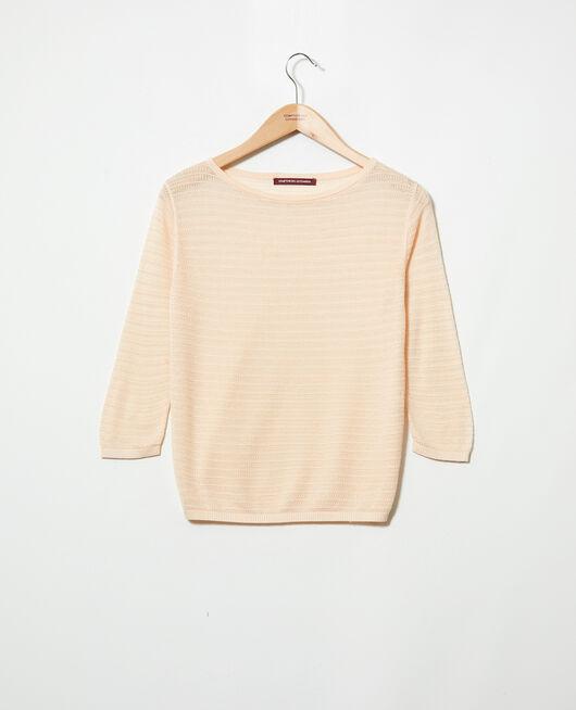 Cotton and silk blend jumper LIGHT PINK
