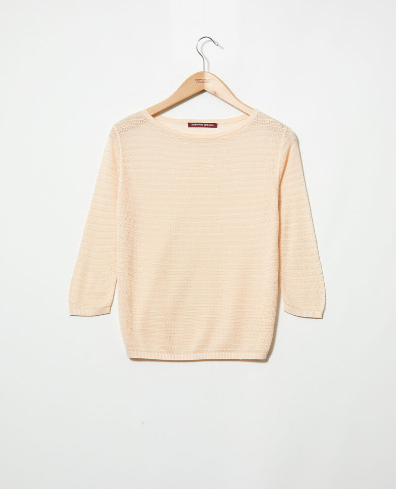 Cotton and silk blend jumper Light pink Iminette