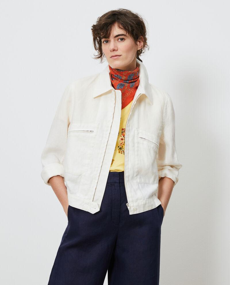 Linen zipped jacket Gardenia Loubajac