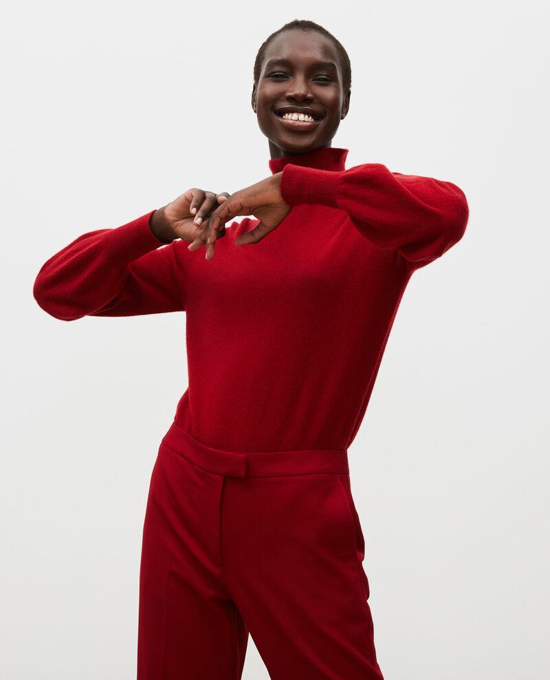 3D fine cashmere turtleneck jumper Royale red Mane