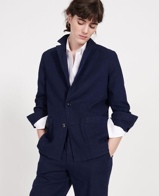 Linen blazer MARITIME BLUE