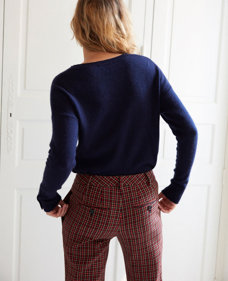 Jumper with buttons on the sleeves Dark navy Jypie
