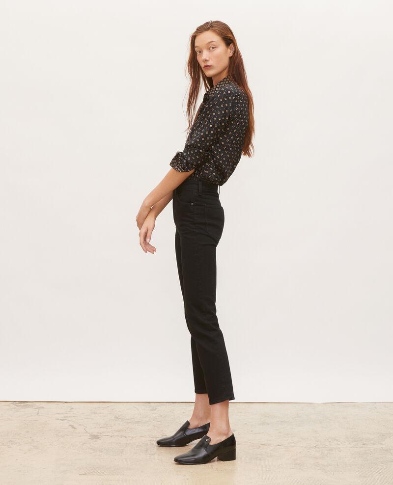 SLIM HIGH RISE - Cropped 5 pocket jeans Noir denim Merville
