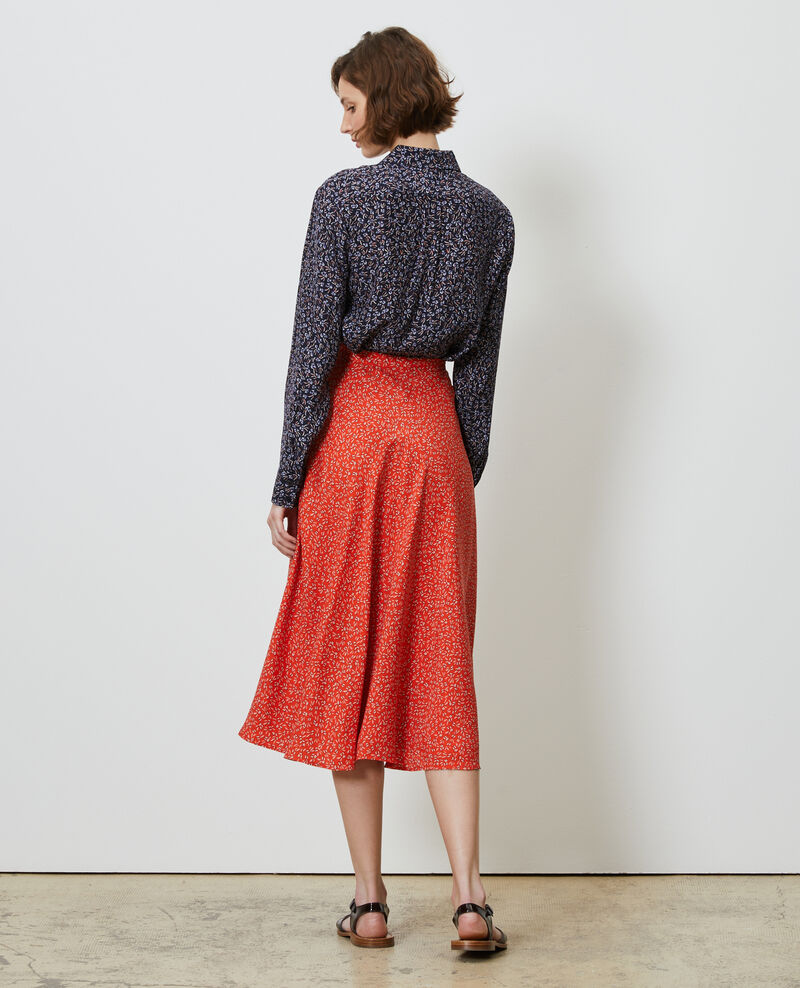Silk skater skirt Clochette spicy Nauraule