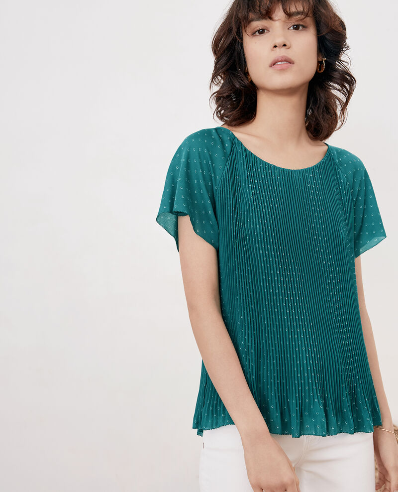 Pleated blouse Ring dots peppermint Filou