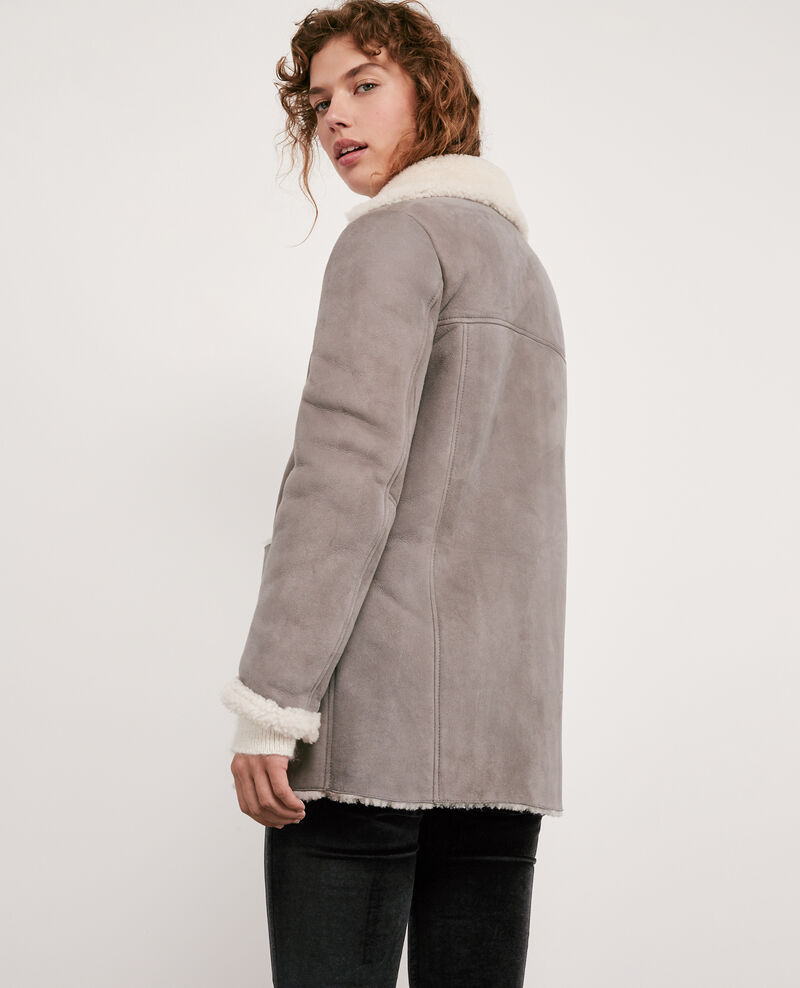 Sheepskin coat Light grey Dolotto