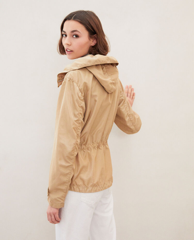 Short lightweight parka Safari beige Idyssa