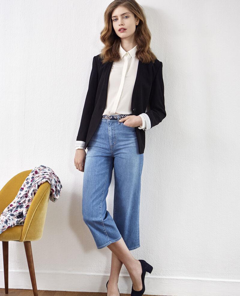 Wide cropped jeans Vintage wash Delente