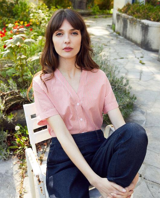Striped blouse SS MOLTEN LAVA