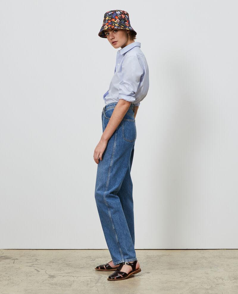 REGULAR - High-waisted 5 pocket bleached jeans Light denim Merleac