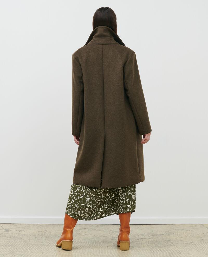 Wool and cashmere boyfriend overcoat Kaki Maule