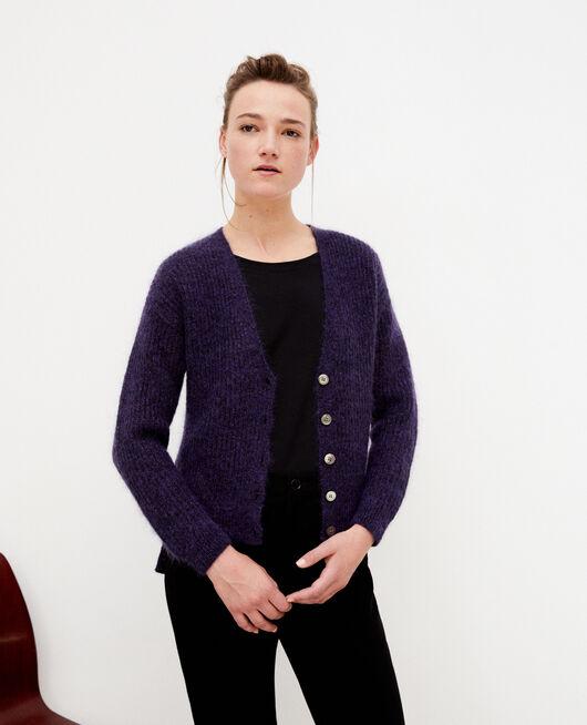 Mohair blend cardigan Purple