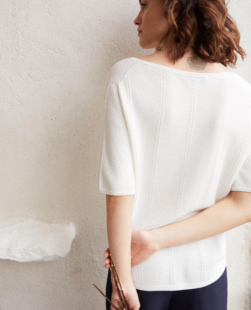 3D cotton jumper Off white Irankana