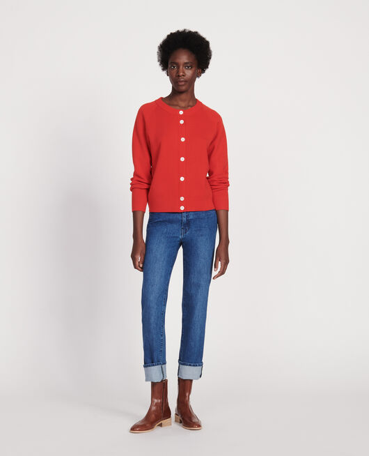 Straight bleached jeans DENIM MEDIUM WASH