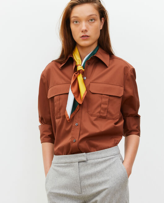 Oversize cotton men's shirt TORTOISE SHELL