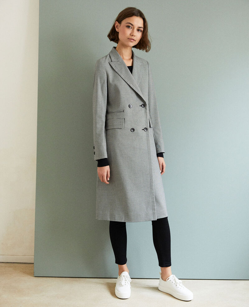 Long lightweight coat Champagne/noir Iminois