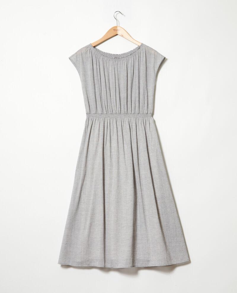 Mid-length dress Navy/white Idem