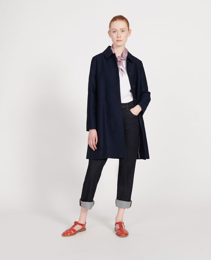 Cotton overcoat Maritime blue Loyale