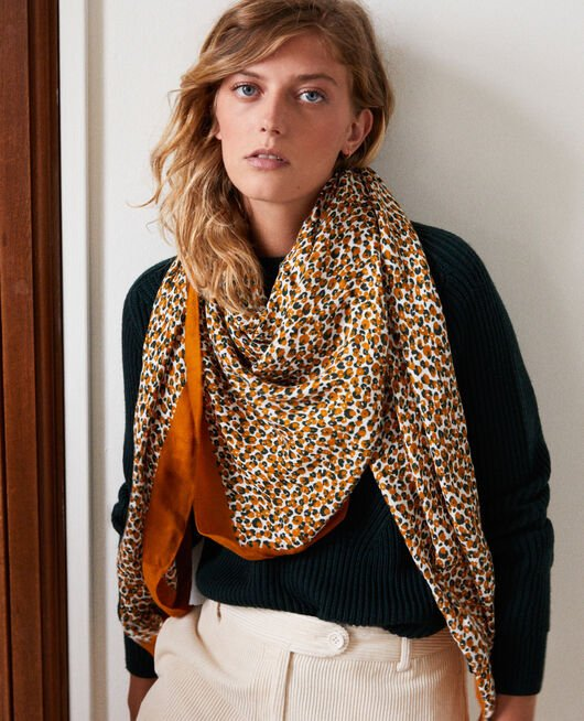 Leopard print scarf THAI CURRY