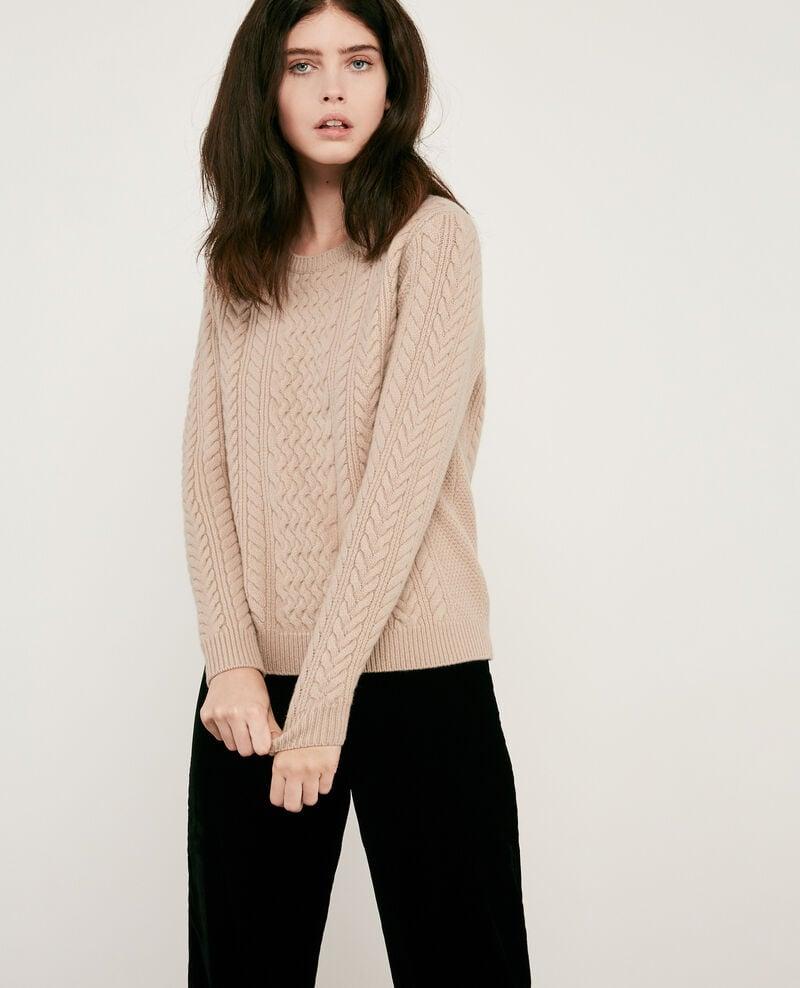 100% wool cable knit jumper Beige Dodger
