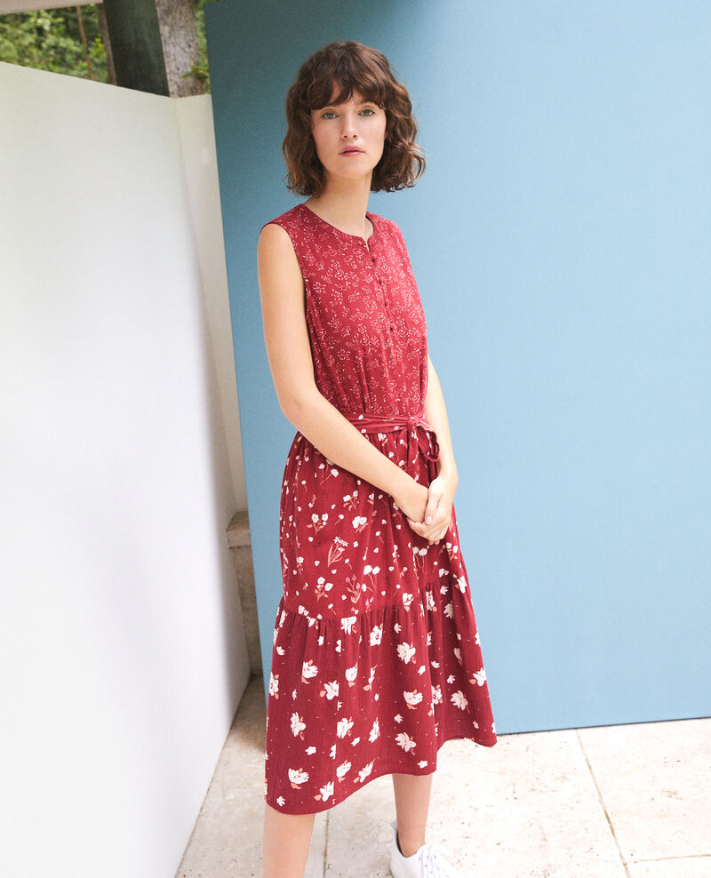 Printed dress Anthemis bloom rio red Garry