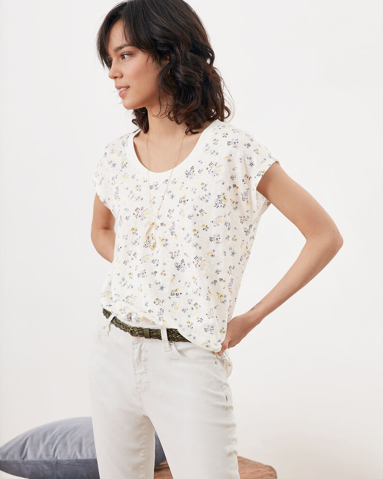 Floral print T-shirt Lillybell kaolin Franka