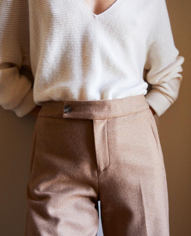 Wool blend suit trousers Camel Jermes