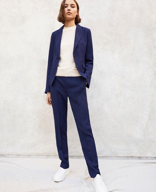 Pantalon coupe carotte Bleu marine