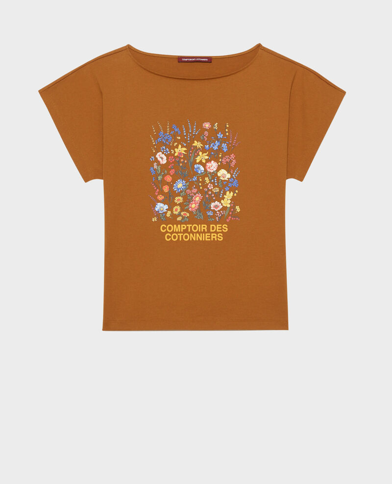 Short-sleeve cotton t-shirt Bronze brown Marcelin