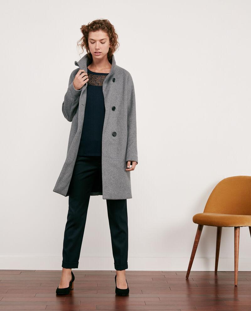 Wool coat Medium heather grey Dyera