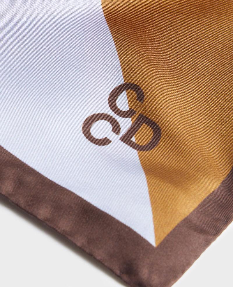 Square silk scarf Blue heron Nassana