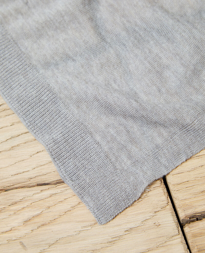 Wool scarf Heather light grey Iwool