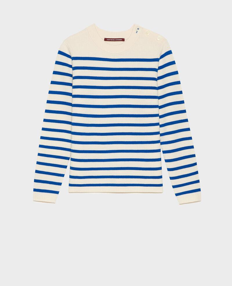 Classic wool jumper Stripes princess blue gardenia Liselle