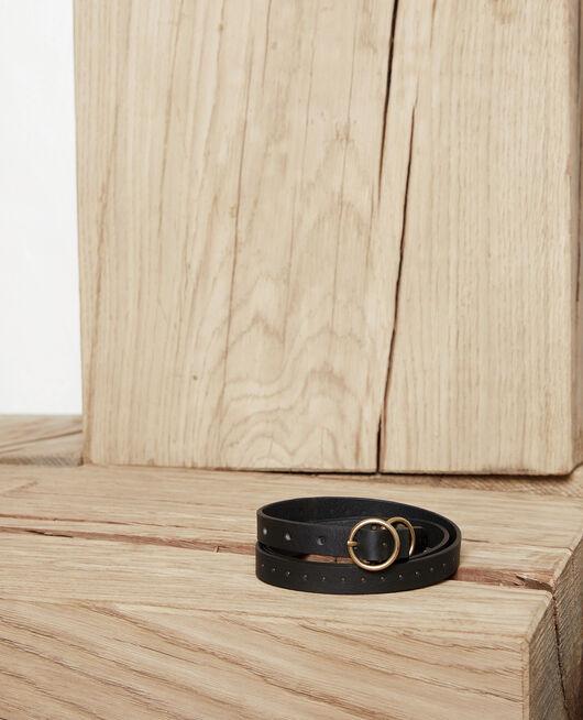 Leather belt NOIR