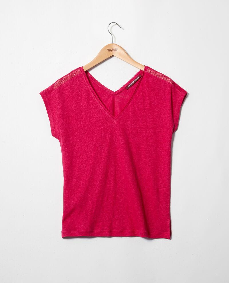 T-shirt with lace Fushia Itlanta