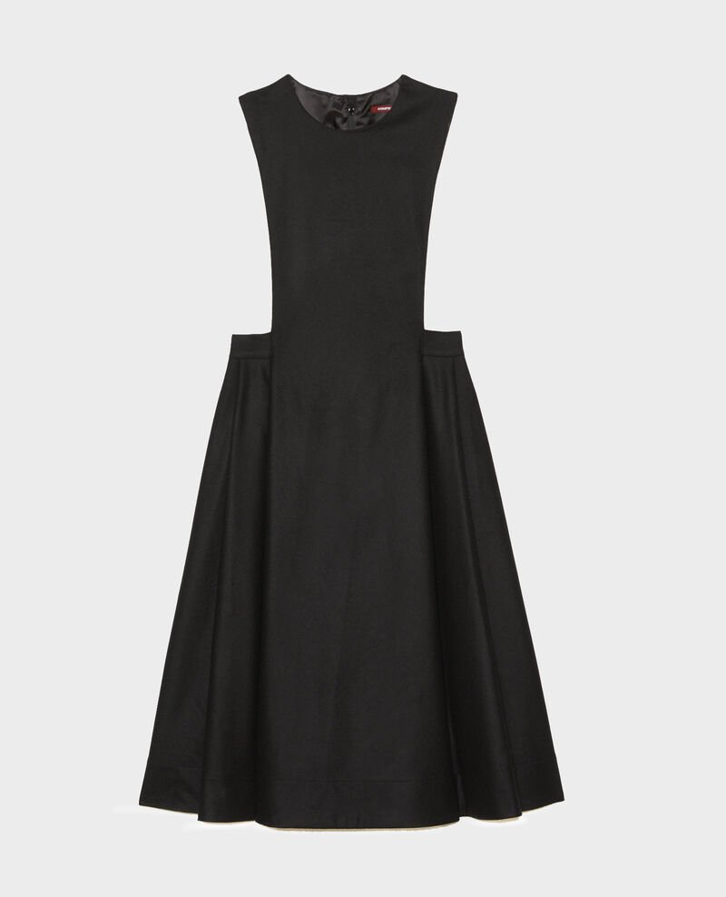 Wool pinafore dress Black beauty Mantilly