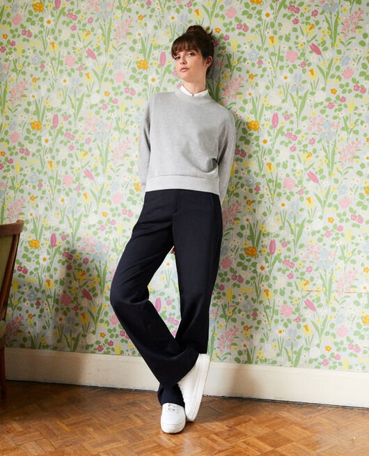 Short sweatshirt LIGHT GREY