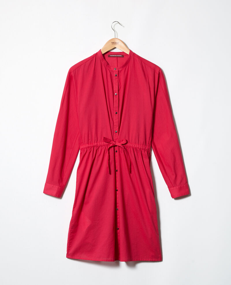 Round neck cotton dress Fushia Ioda