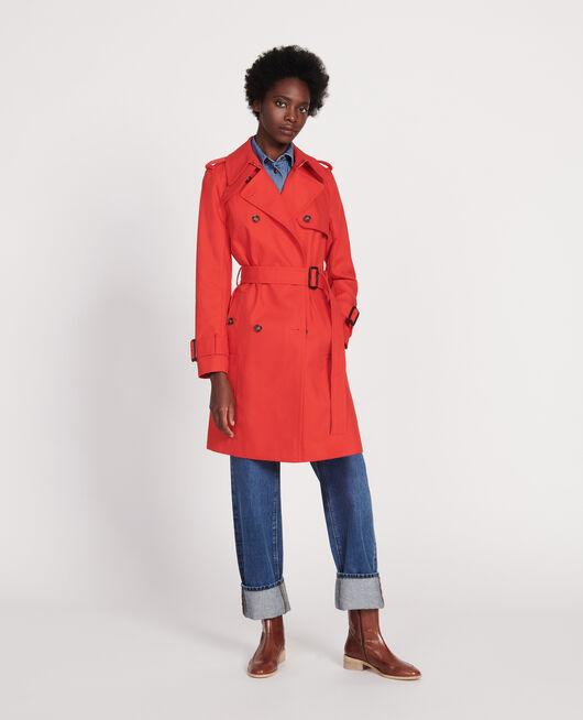 Timeless trench coat FIERY RED