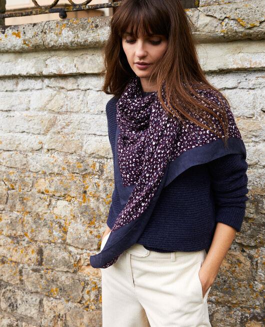 Leopard print scarf POTENT PURPLE