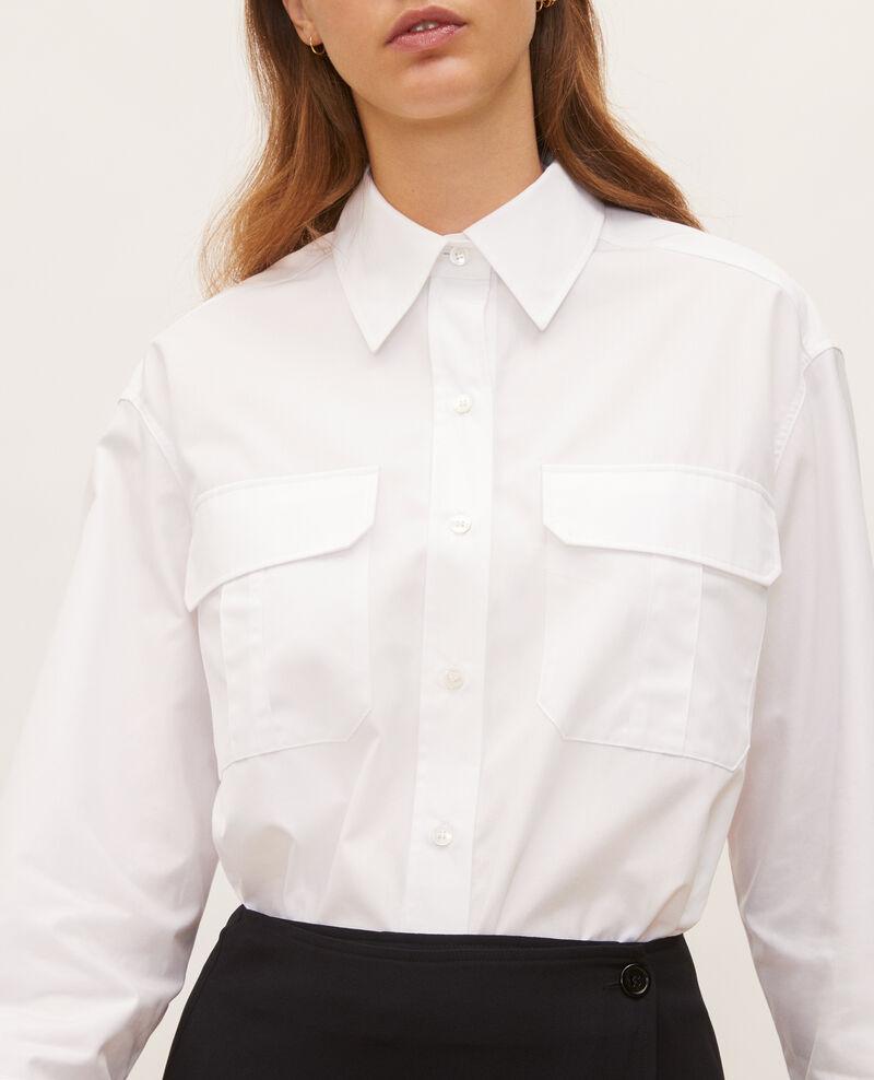 Oversize cotton men's shirt  Optical white Lauryl