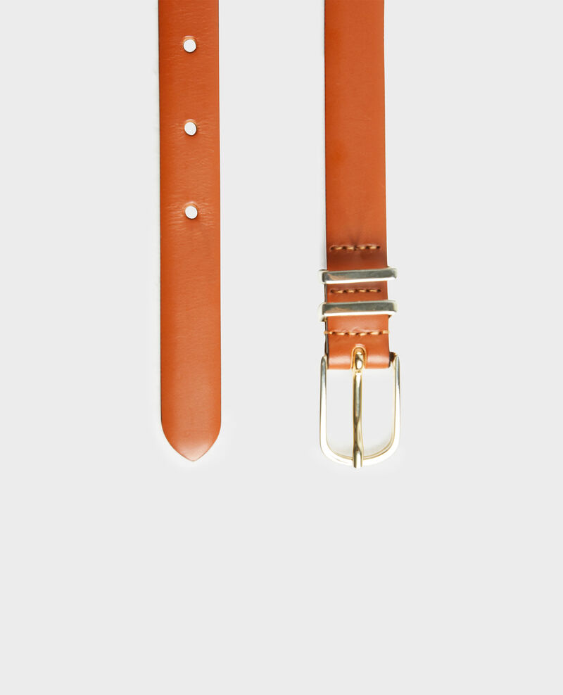 Leather belt Brandy brown Mendite