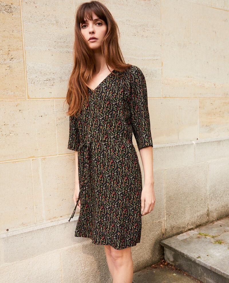 Printed dress Daphne noir Jafete
