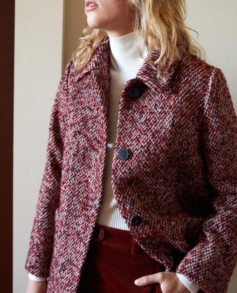 Tweed coat Red melange Jiarritz