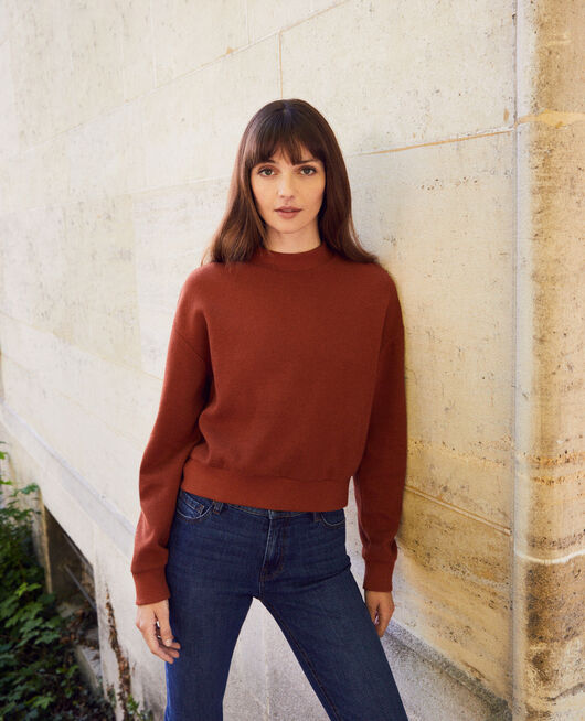 Short sweatshirt BRANDY BROWN