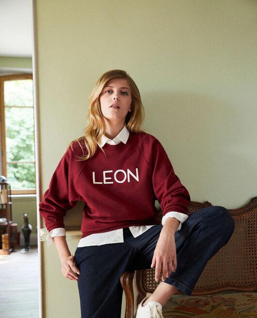 LEON sweatshirt CABERNET