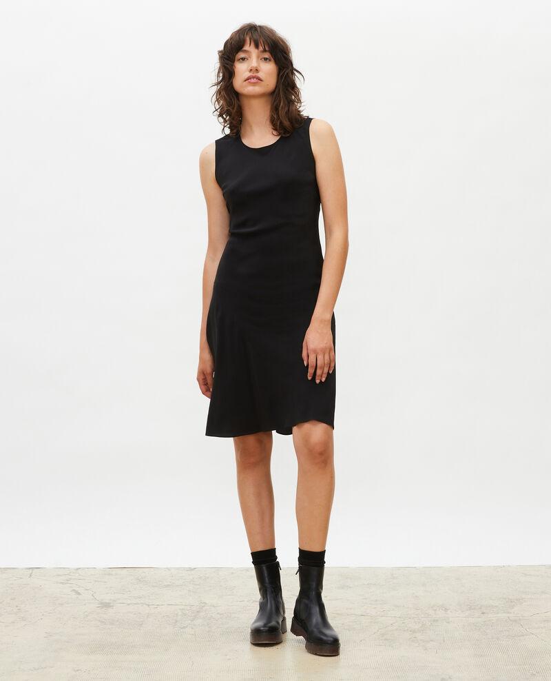 Sleeveless bias-cut silk dress Black beauty Leonide