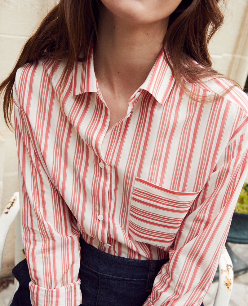 Striped cotton shirt Ds molten lava Jadori